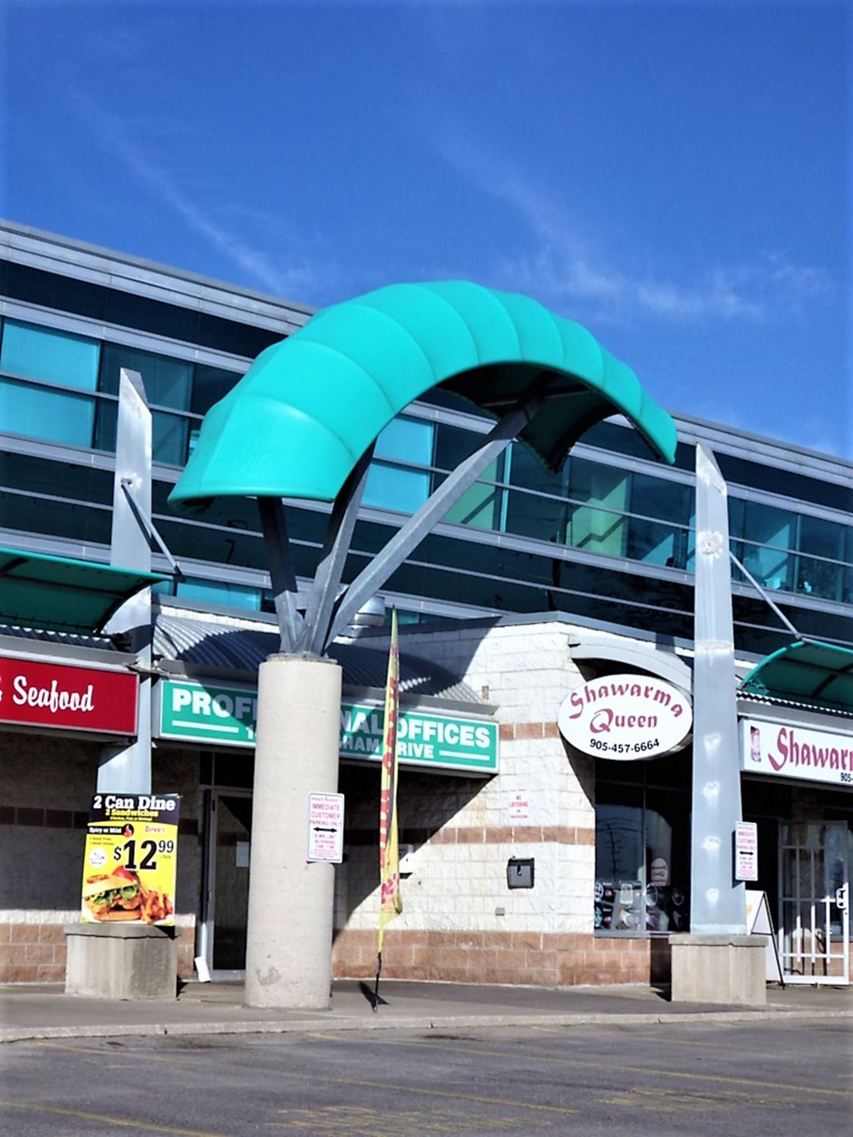 canopy, awning, shade structure, fabric, aluminum, paint finished, digital print, tensile, sunbrella