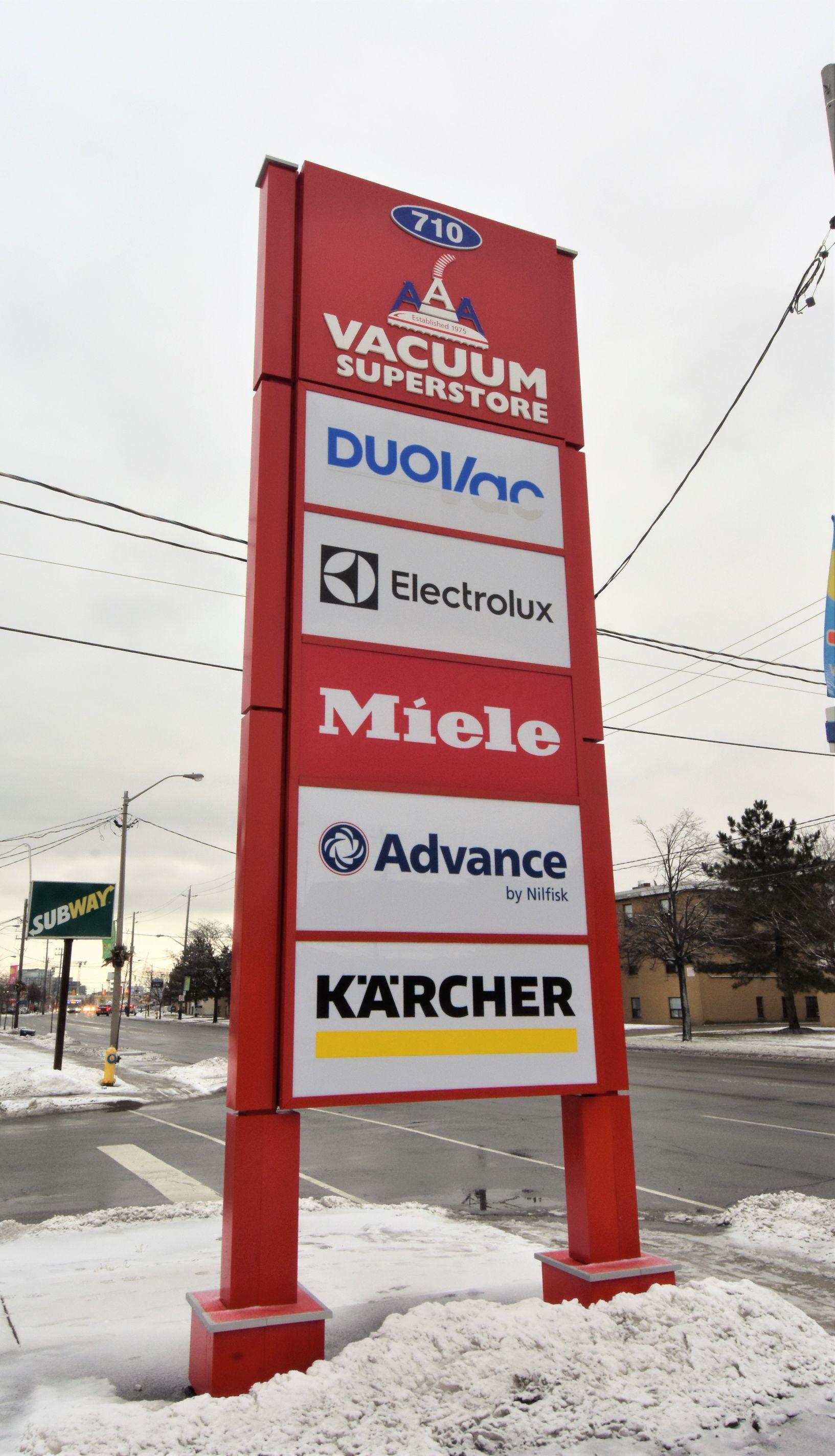 aluminum, sign, signage, pylon sign, ground sign, monument sign, led, illumination, paint finished, AAAVacuum