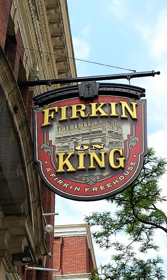 aluminum, sign, signage, led, illumination, paint finished, led bulb, Firkin And King